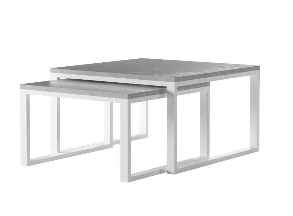 Metalowy stolik ogrodowy 2w1 TERRACE biały